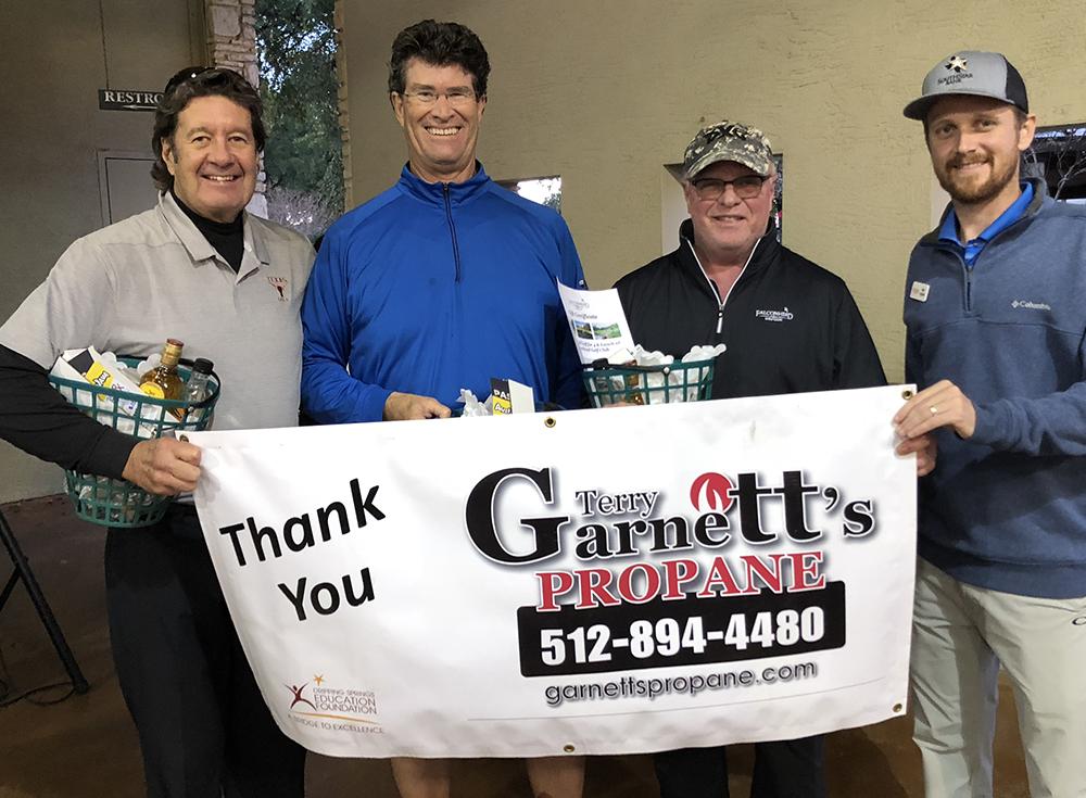 1st Place — Terry Garnett – Title Sponsor, Doyle Wilson,  Roy Bechtol,  Jonathan Fleming