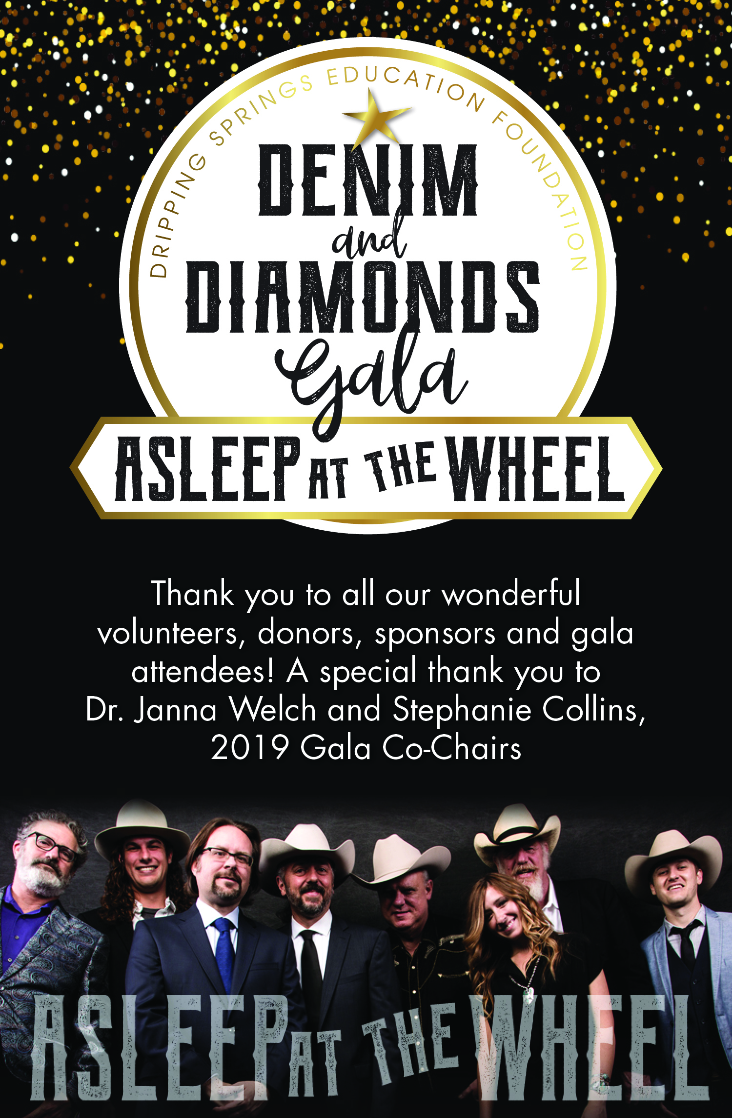 Thank You to all our supporters!  2019 Denim & Diamonds Gala — April 5, 2019